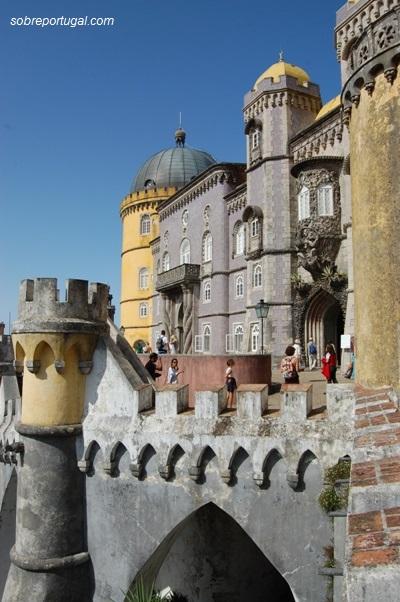 Palacio da Pena, fachada