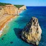 La aislada y tranquila praia dos Caneiros, en Lagoa