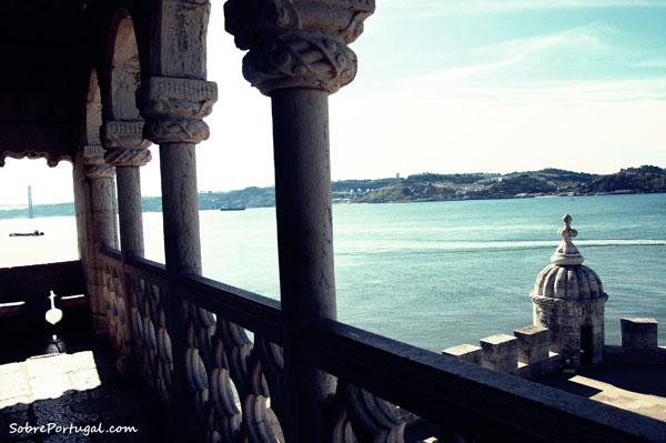 Paisaje de Lisboa desde la Torre de Belem