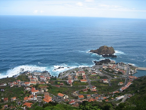 Vista aerea de Porto Moniz