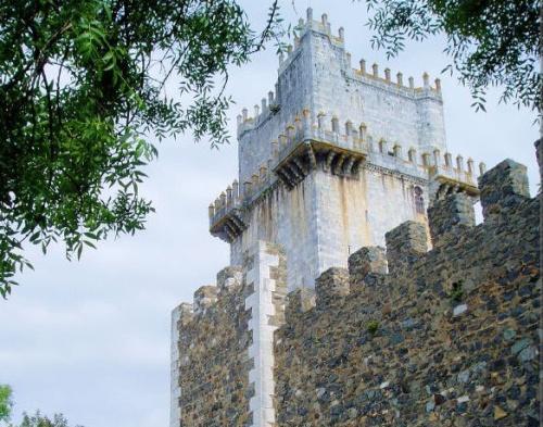Torre principal en el Castillo de Beja