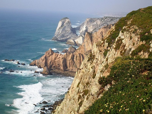 Diferencia de paisajes en el Parque Sintra-Cascais