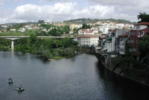 Vista de Amarante desde el Puente de San Gonzalo