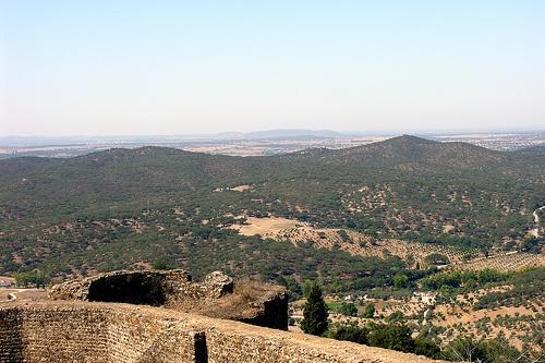 Vista desde el Castillo de Evora Monte