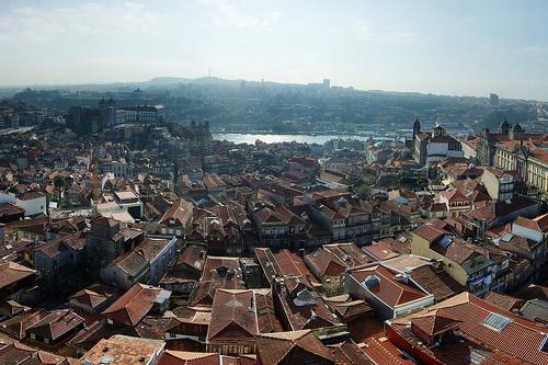 Vista de Oporto desde la Torre de los Clerigos