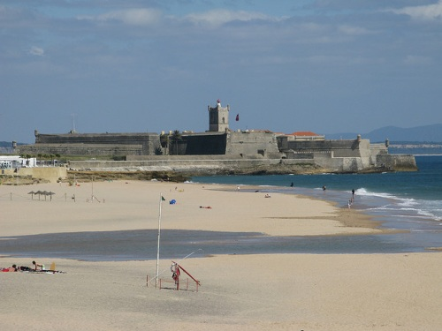 Playa de Torre en el sur de Estoril