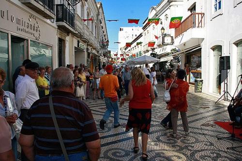 Rua de santo Antonio en Faro