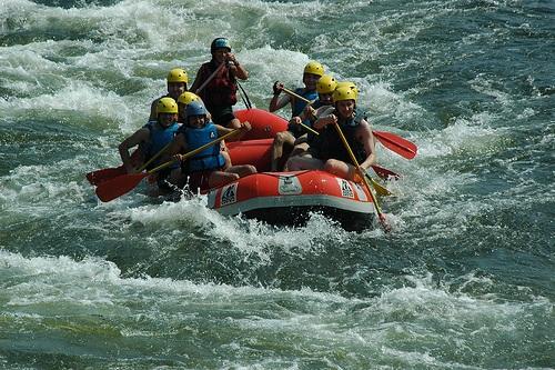 Rafting en el rio Minho