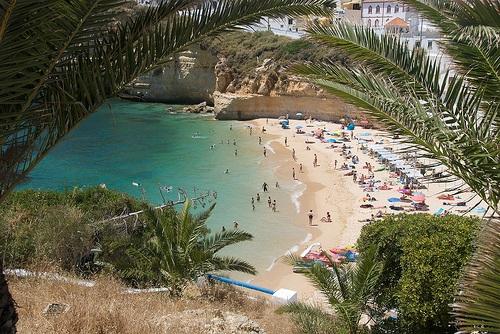 Las bellas playas del occidente de Algarve Central