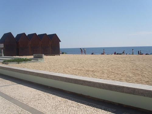 Playa Salgueira en Povoa de Varzim